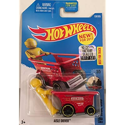 Hot Wheels 2020 HW Ride-Ons Aisle Driver (Shopping Cart Car) 139/365, Red: Toys & Games