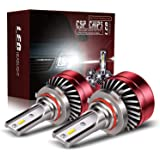TURBO SII 9006 HB4 LED Headlight Bulbs All-in-One Conversion Kit,6x CSP Chips Super Bright Low Beam Fog Light With Cooling Fa