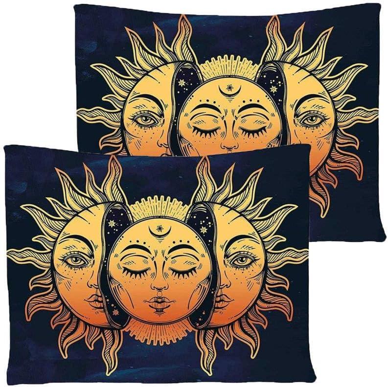 ARAZZO Psychedelic indiano Luna Sole Molti Frattale Faces Tapestry Wall Hanging Wall Carpet Arte per la camera da letto Living Room Dorm Decor