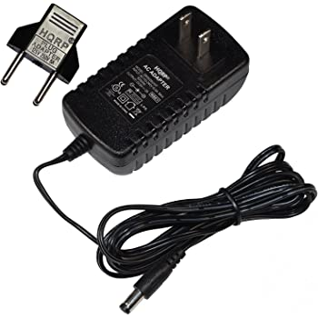 HQRP AC Adapter Compatible with Golds Gym Power Spin 230R Exercise Cycle GGEX61707 GGEX617070 GGEX617071 Power Supply Cord [UL Listed] + Euro Plug Adapter