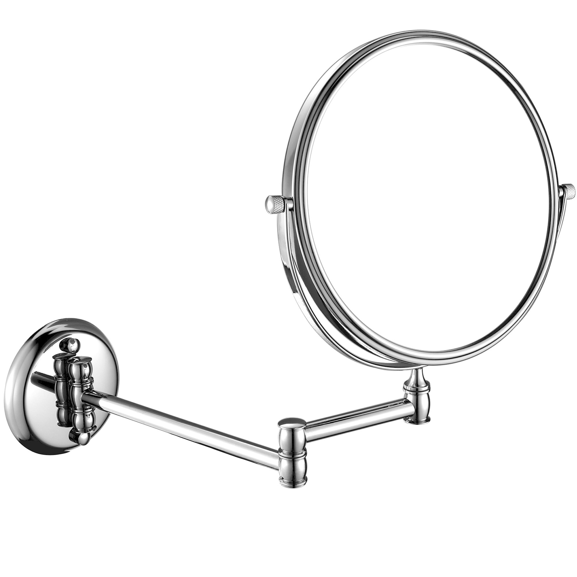 GURUN 7x Magnification Adjustable Round Mirror Wall Mount Makeup Mirrors,8-Inch,Chrome Finish M1308(8in,7x)