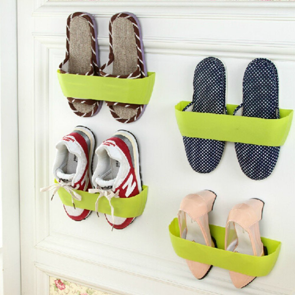 Ungfu Mall Creative Hanging Shoe Rack Wall Hang Save Space Shoes  # Muebles Sapateras