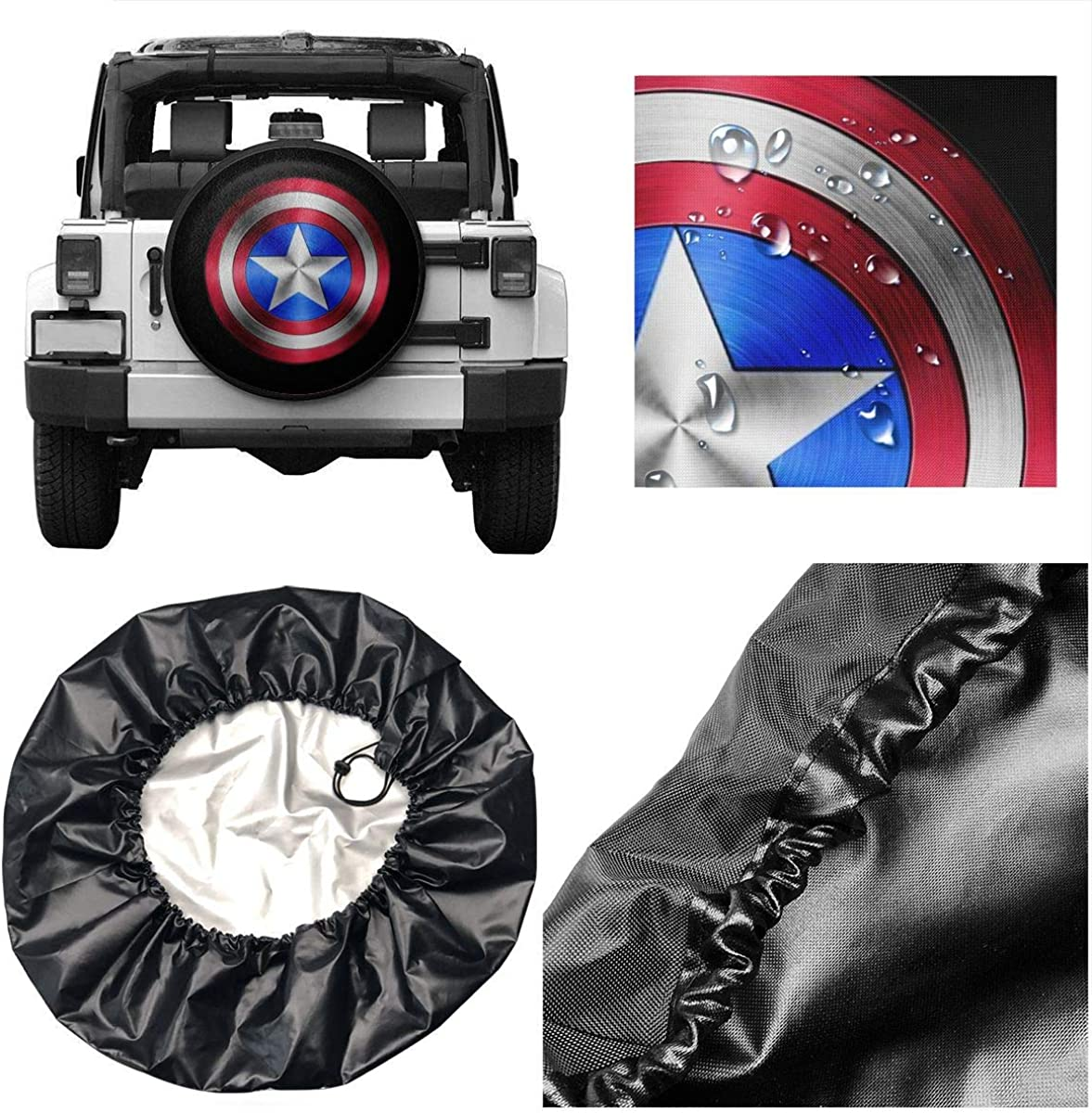 RV Universal Fit for Jeep Car Truck Wheel 14 15 16 17 Inches DEETU Spare Tire Cover Trailer