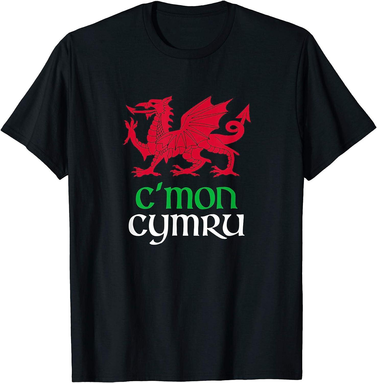 ウェールズウェールズウェールズflag Cmon Cymru Rugby Fan Tシャツ