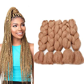 Amazon Com Colorful Bird Brown Yaki Jumbo Braiding Hair 26 Inches Kanekalon Braiding Hair High Temperature Synthetic Braiding Hair Extensions For Twist Crochet Hair 5pcs Lot 90g Pc 30 Beauty