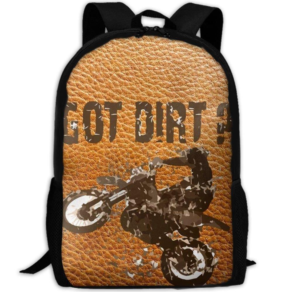 JJHGNL Got Dirt Bike Motorcross Racing Unique Business Laptop Backpack,Travel College School Computer Bag Durable Water Resistant Bookbag for Boys Girls Women Men,