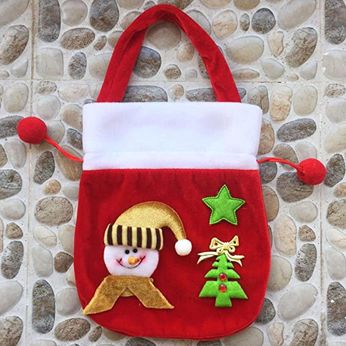 257ee38041 HCFKJ Beauty Xmas Decor Wedding Home Party Candy Holder Bags Gift Christmas  Bag Red Handbags for Kids(23   20cm) (Red B)  Amazon.co.uk  Shoes   Bags