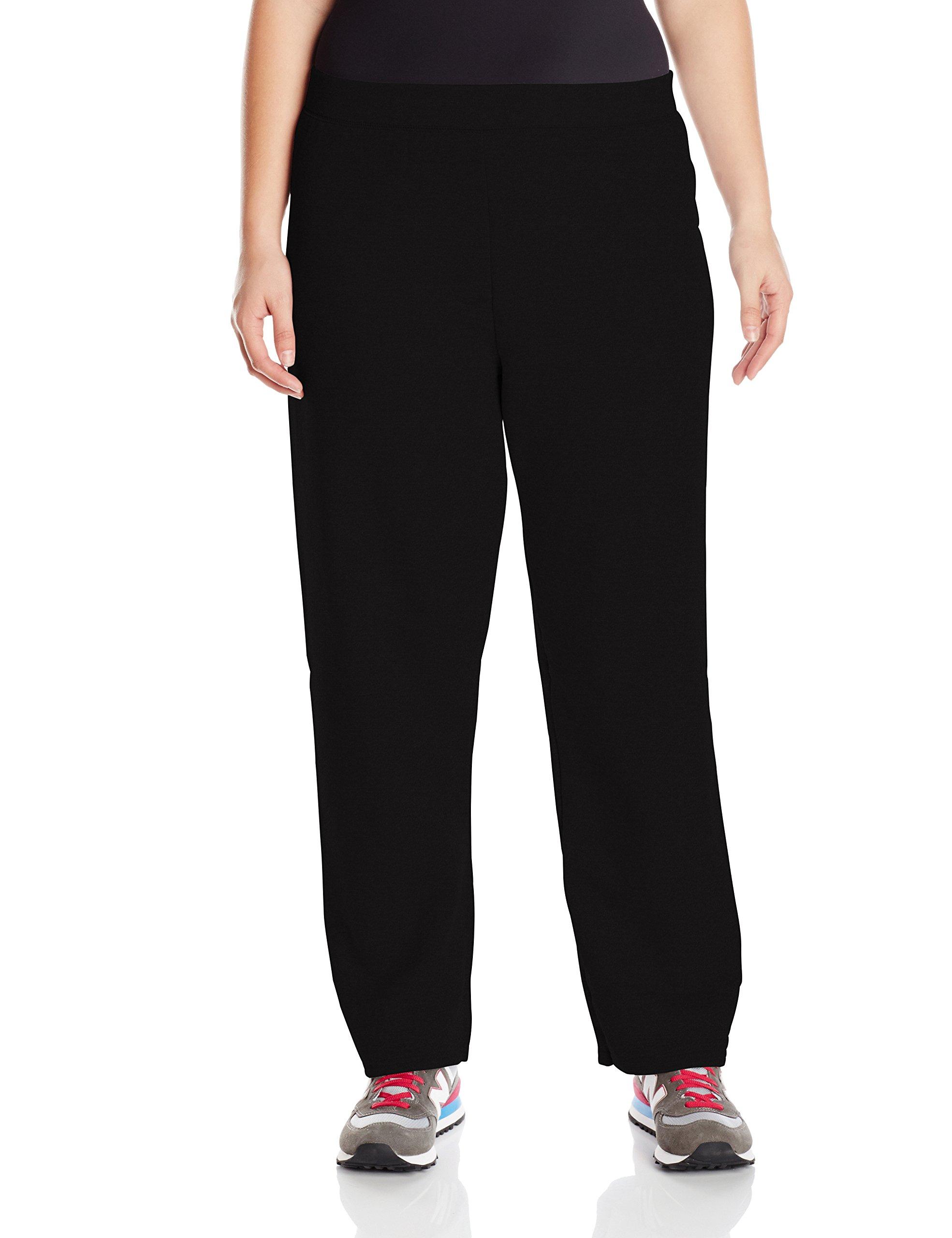 Just My Size Women's Plus-Size Fleece Sweatpant, Ebony, 2XL
