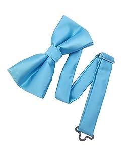 YEHMAN - Pajarita unicolor con caja de regalo azul celeste Talla única