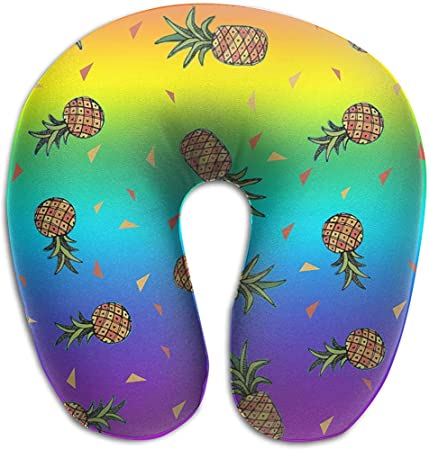 Rainbow Lgbt Pride Aloha Triple Pineapple Memory Foam Neck Pillow Comfy Soft U Shape Cervical Pillow Head Support For Travel Office Home Car Sleeping Amazon Co Uk Luggage