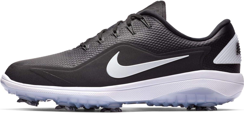 Nike React Vapor 2 Golf Shoe Black/Metallic White-White - 8