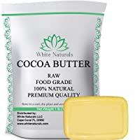 Raw Cocoa Butter 1 lb, Unrefined, Pure, Natural, Perfect For Skin Care & Hair Care...