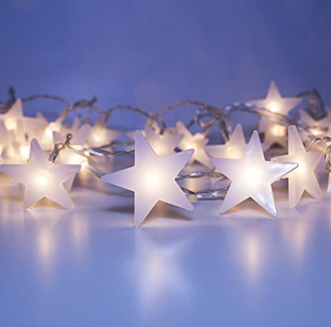 Amazon.com: LuxLumi Starry & Glossy String Lights with Warm ...