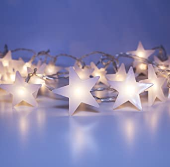 Amazon.com: LuxLumi Starry & Glossy String Lights with Warm White 50 ...