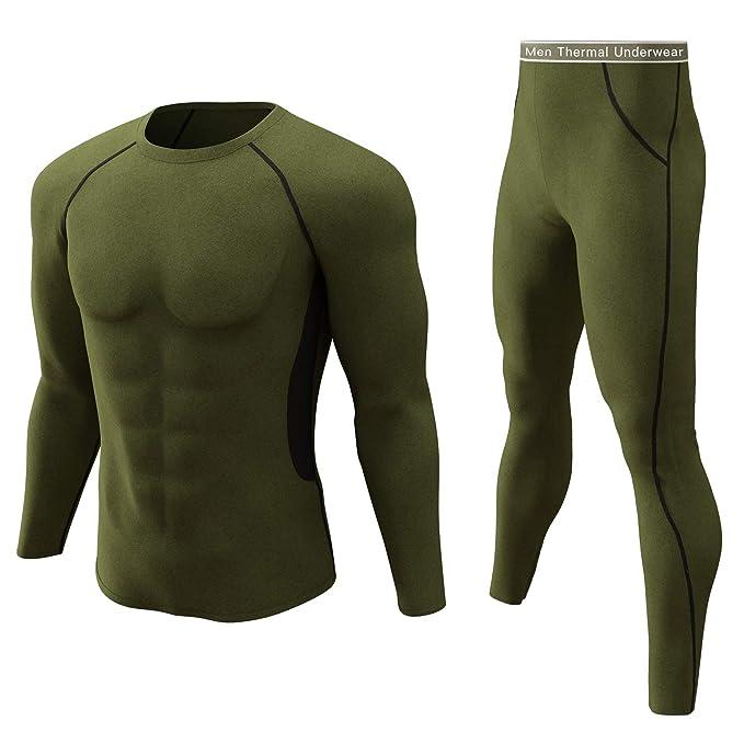 Amazon.com: Conjunto de ropa interior térmica de invierno ...
