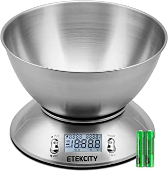 Etekcity Digital Removable Bowl Food Scale