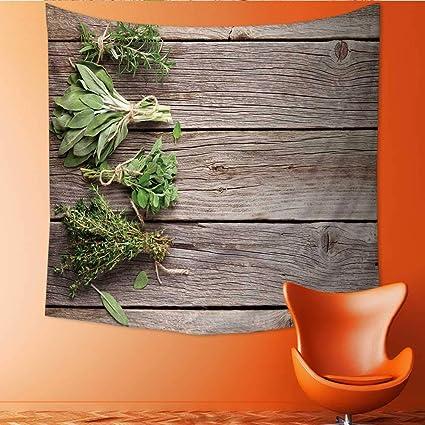 Amazon.com: UHOO2018 Square Tapestry Fresh Garden Herbs on ...