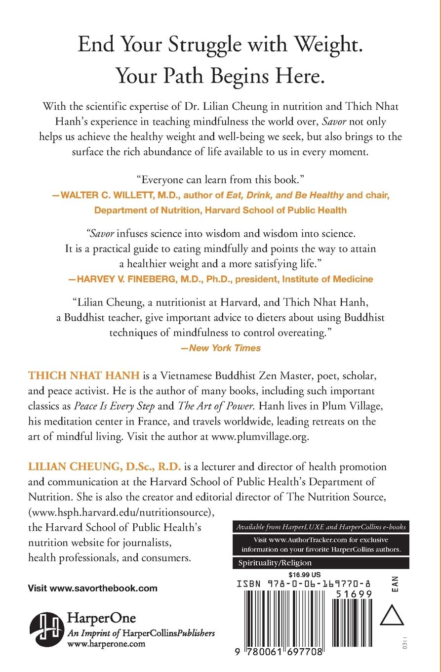 Savor Mindful Eating Mindful Life Amazon De Hanh Thich Nhat