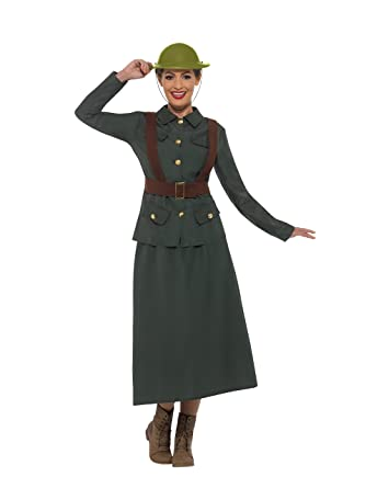 1940s Costumes- WW2, Nurse, Pinup, Rosie the Riveter Smiffys WW2 Army Warden Lady Costume $38.68 AT vintagedancer.com