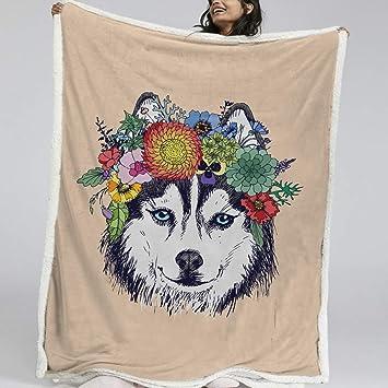 Amazon.com: BlessLiving - Manta de forro polar con estampado ...