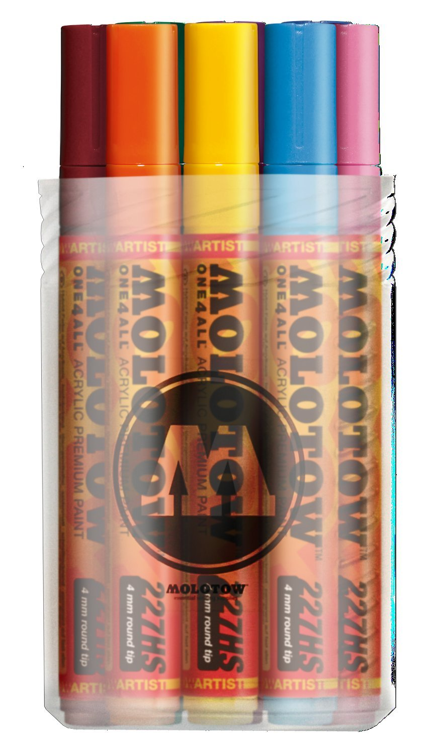 Molotow ONE4ALL Acrylic Paint Marker Set 1, 4mm, Assorted Colors, 12 Marker Set, 1 Set Each (200.153)