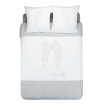 Engel Mit Bettbezug 240 X 260 Cm Und 2 Kissenbezügen Weiß Alinea