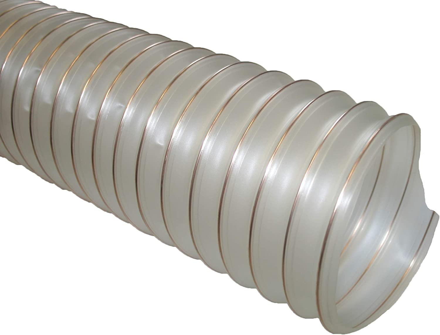 Woodworking 150mm ID x 5m Length Ventilation Dust /& Fume Extraction PU Flexible Ducting Hose Fully Antistatic Polyurethane