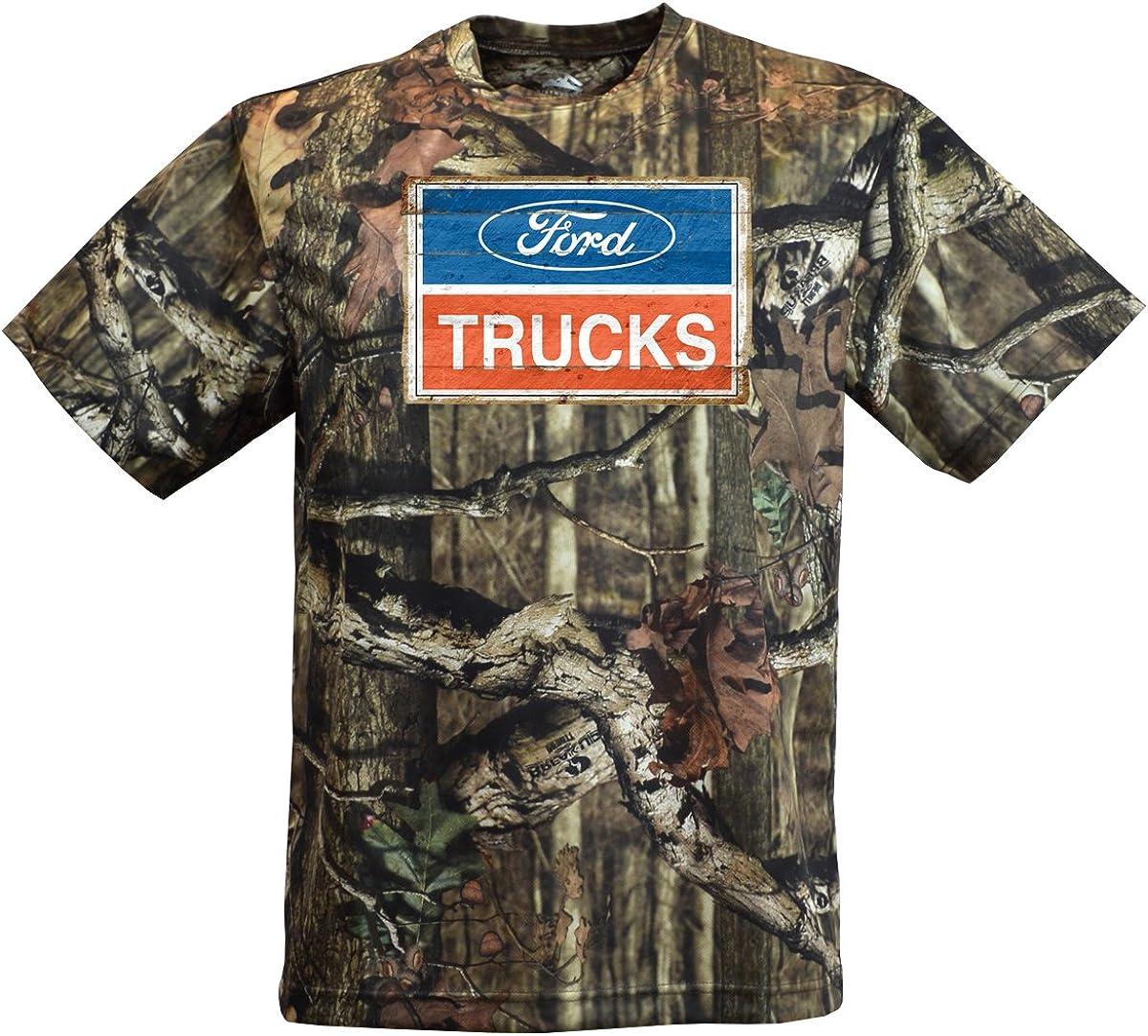 New Ford Truck Camo  Vintage Logo Tee Shirt