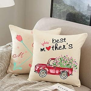 Pillow Case from Daughter Mom Gift 18x18 Pillow Case Home Decor Farmhouse Decor