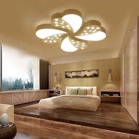 KHSKX Sencillo dormitorio moderno luces LED Salon estudio ...