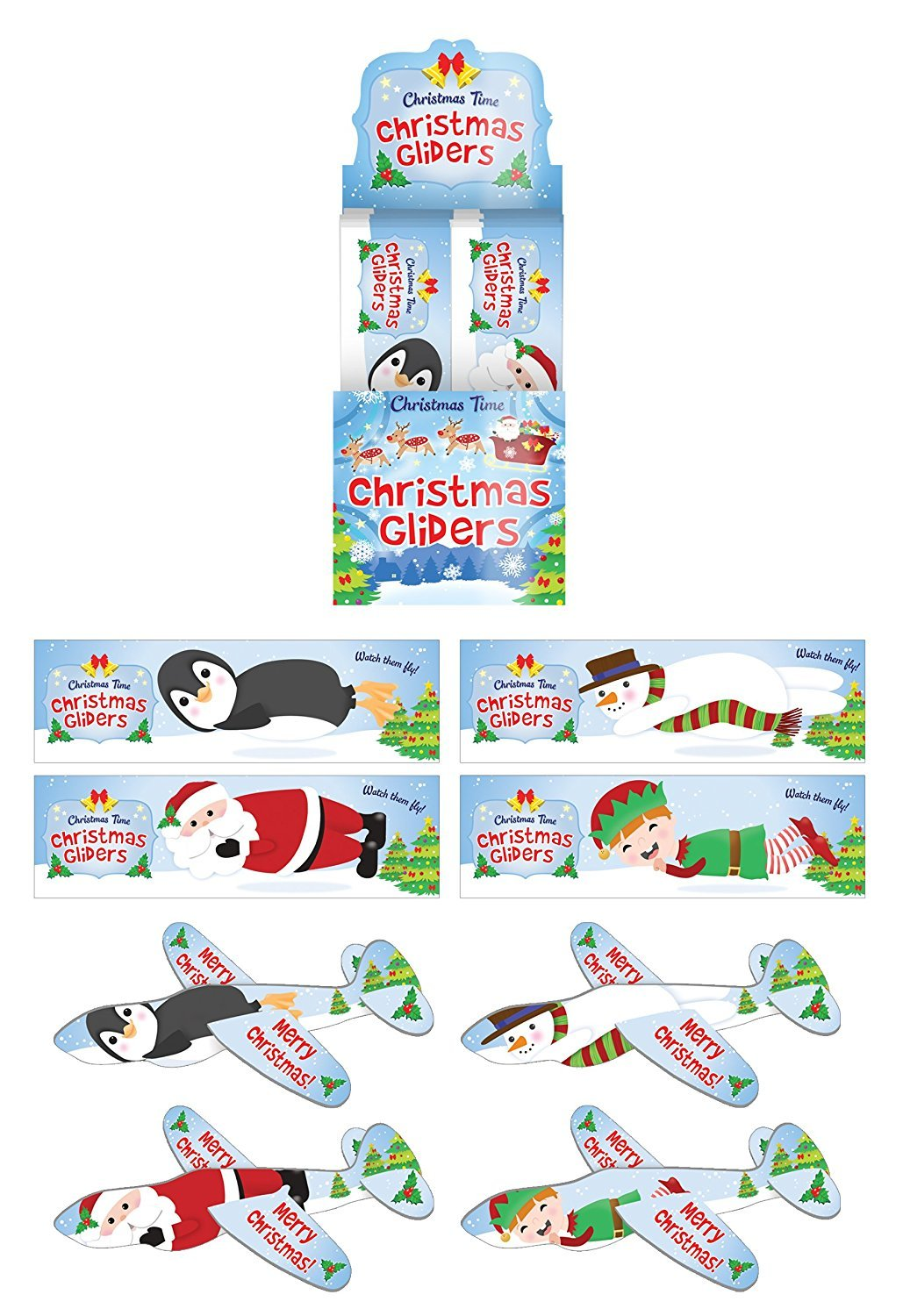 12 x Xmas Gliders The Harlequin Brand