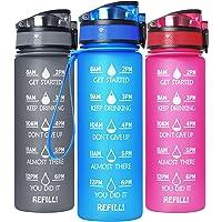 GeeRic Drinkfles Sport waterfles 750 ml BPA-vrij koolzuur geschikt voor universiteit, sport, fitness, fiets, outdoor