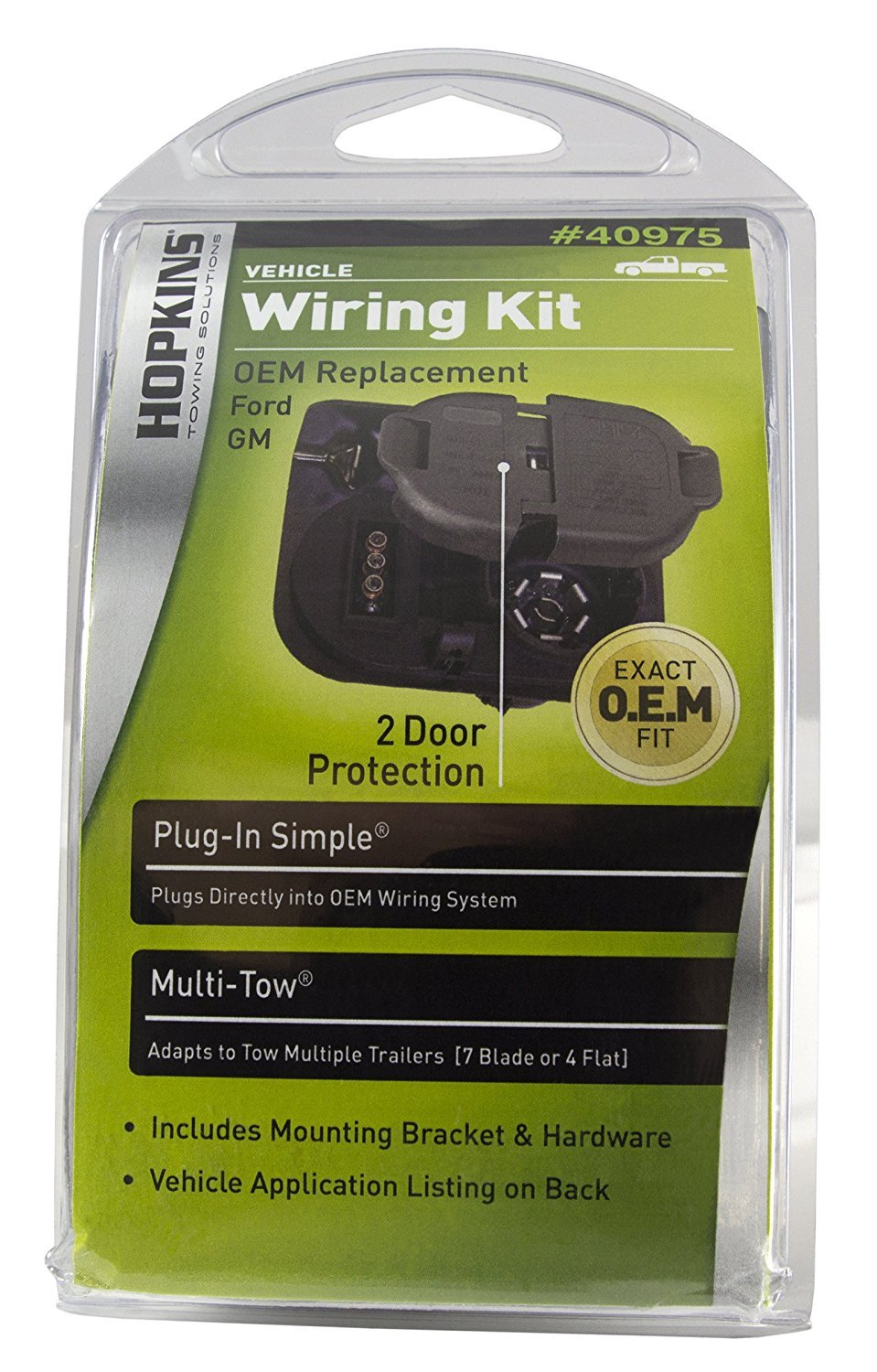 Amazon.com: Hopkins 40975 Multi-Tow Plug-In Simple Wiring Kit: Automotive
