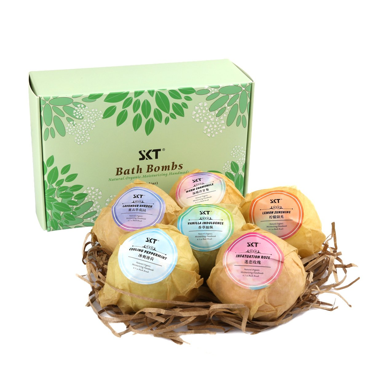 Bath Bombs Fizzies Gift Set 6Pcs for Aromatherapy Bubble & Spa, Fizzing Vegan Bath Bomb Balls contains Natural Essential Oil for Moisturizing Normal/Dry Skin - 6 Fragrances AntArt