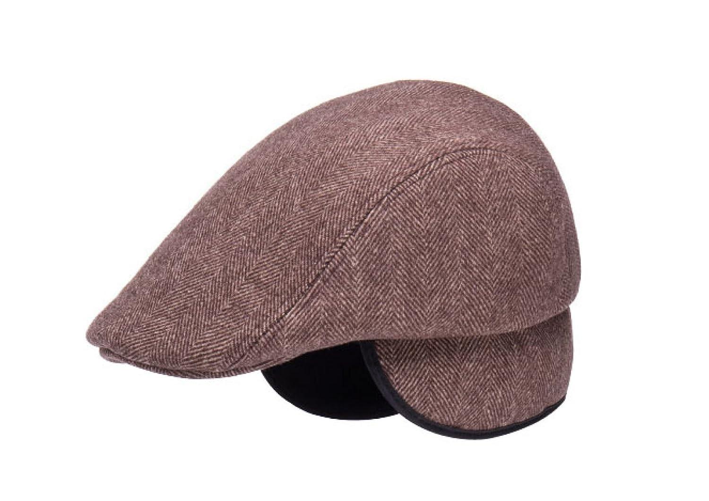 GAZHFERY ältere Hut-Männer Beiläufiger Baseball-Hut Winter-dicker Warmer Vati-Hut Brown-OneSize ffjyjc