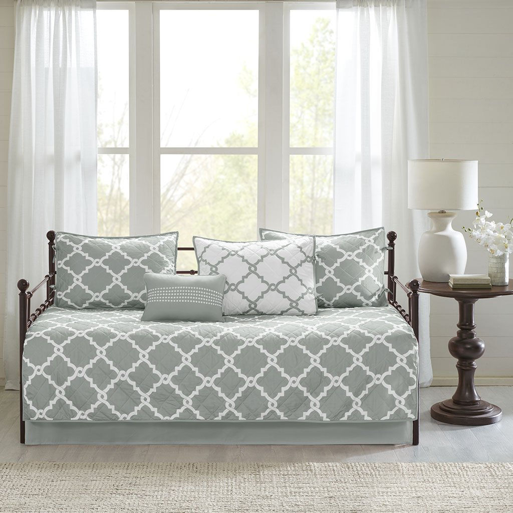 Madison Park Merritt 6 Piece Reversible Daybed Set Grey Daybed