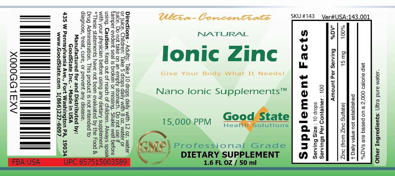 Amazon good state liquid ionic zinc ultra concentrate 10 amazon good state liquid ionic zinc ultra concentrate 10 drops equal 15 mg 100 servings per bottle health personal care gamestrikefo Gallery