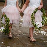 2Bunnies Girl Beaded Peony Lace Back A-Line Tiered