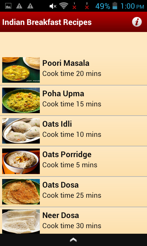 Amazon indian breakfast recipes appstore for android forumfinder Image collections