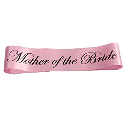 mother of the bride sash bachelorette party pink sash bridal shower gift