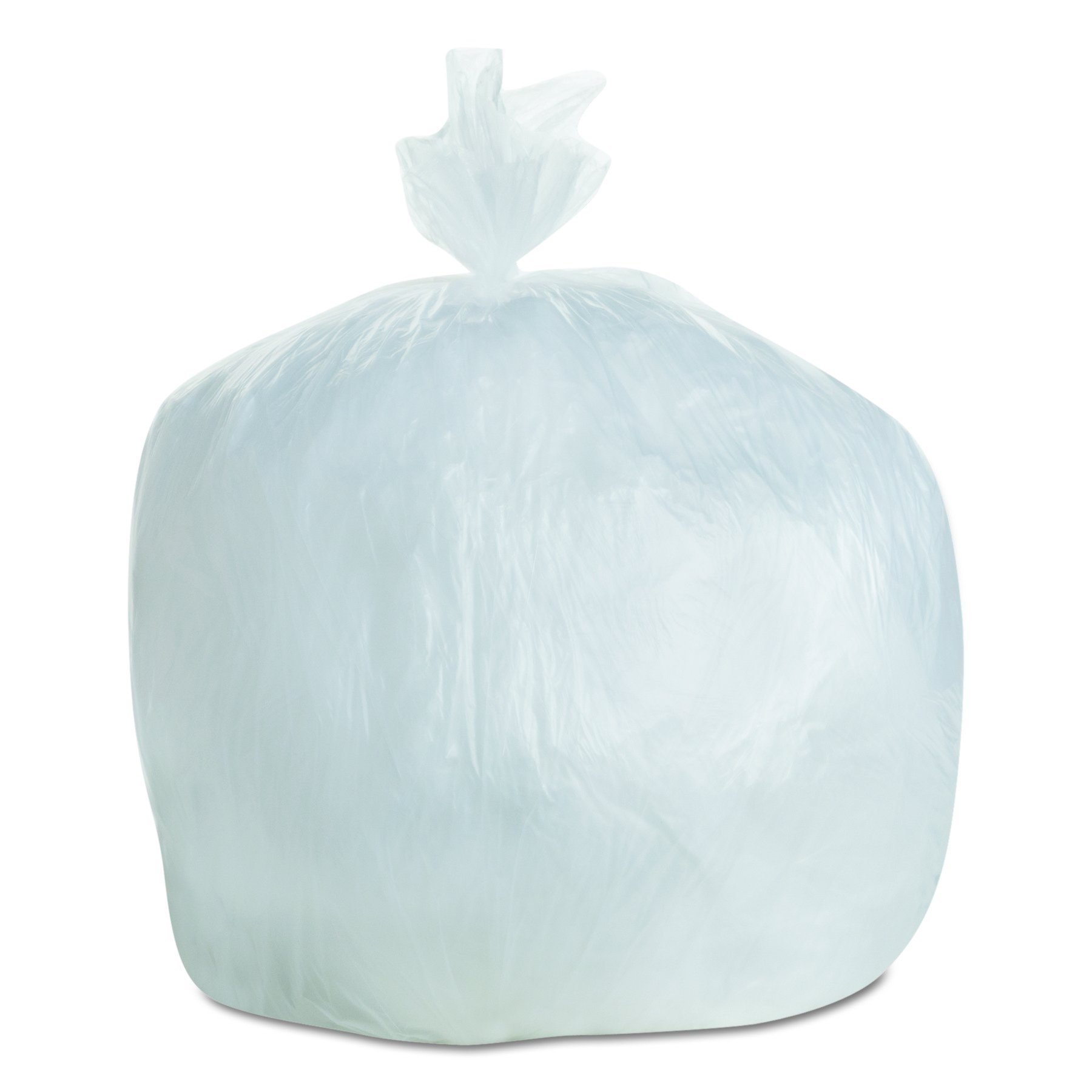 GEN 303610 High-Density Can Liner, 30x36, 20-30 gal, 8 Mic, Natural, 25 Bags Per Roll (Case of 20 Rolls)