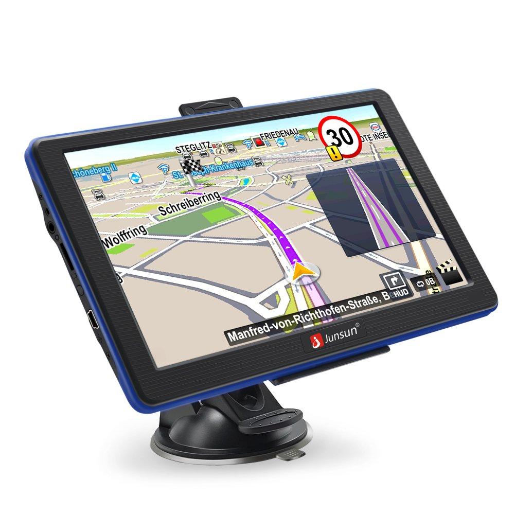 Junsun Car GPS Portable GPS Navigation for Car 7 inch 8GB Capacitive Touchscreen sat nav with Lifetime Maps