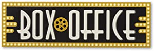 Open Road Brands Box Office Movie Wood Wall Décor - for Theater Room, Game Room or Basement