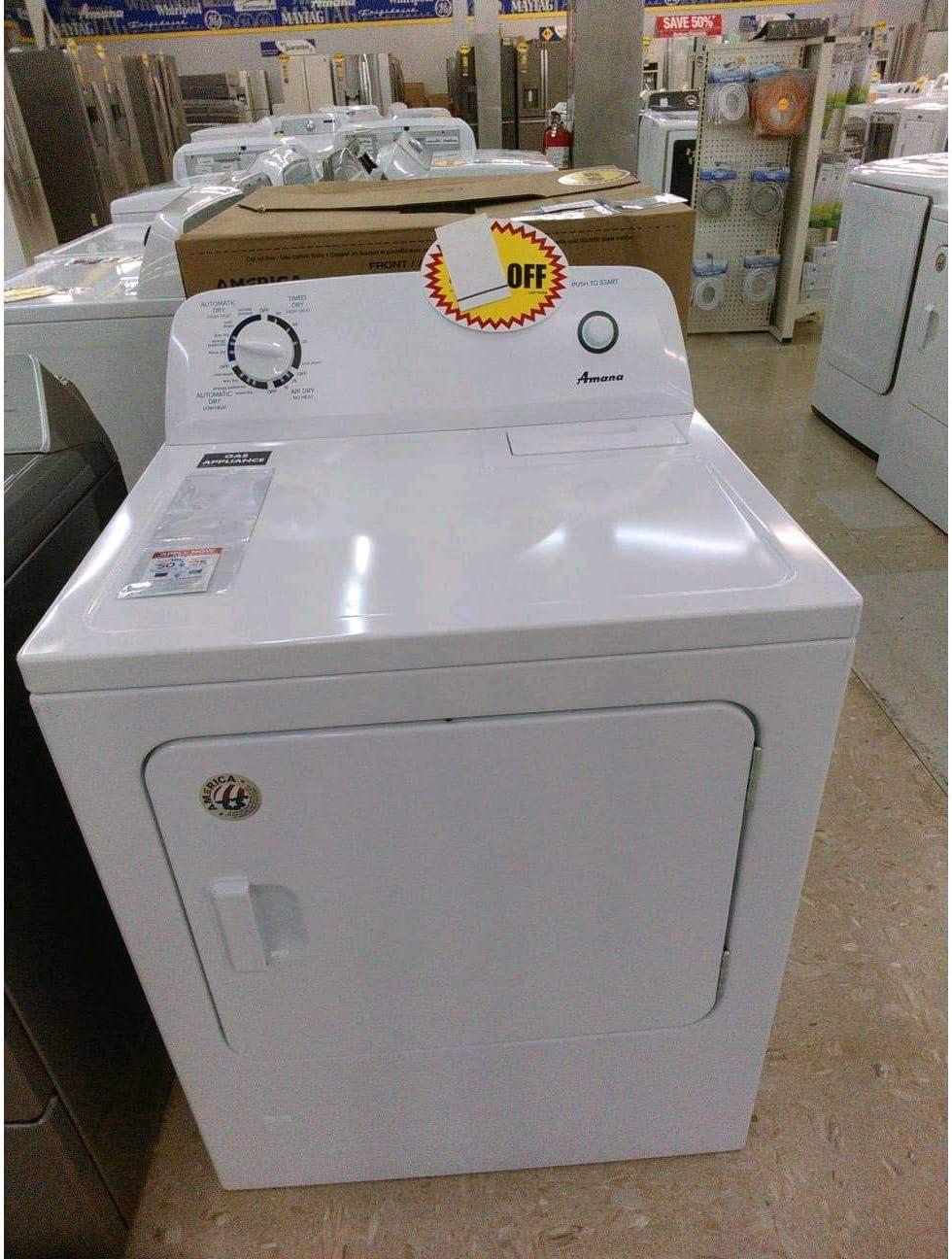 Amazon Com 7 0 Cu Ft Gas Dryer White Appliances