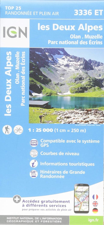 IGN Les Deux Alpes/Olan/Muzelle/Parc National des Ecrins - Carte topographique