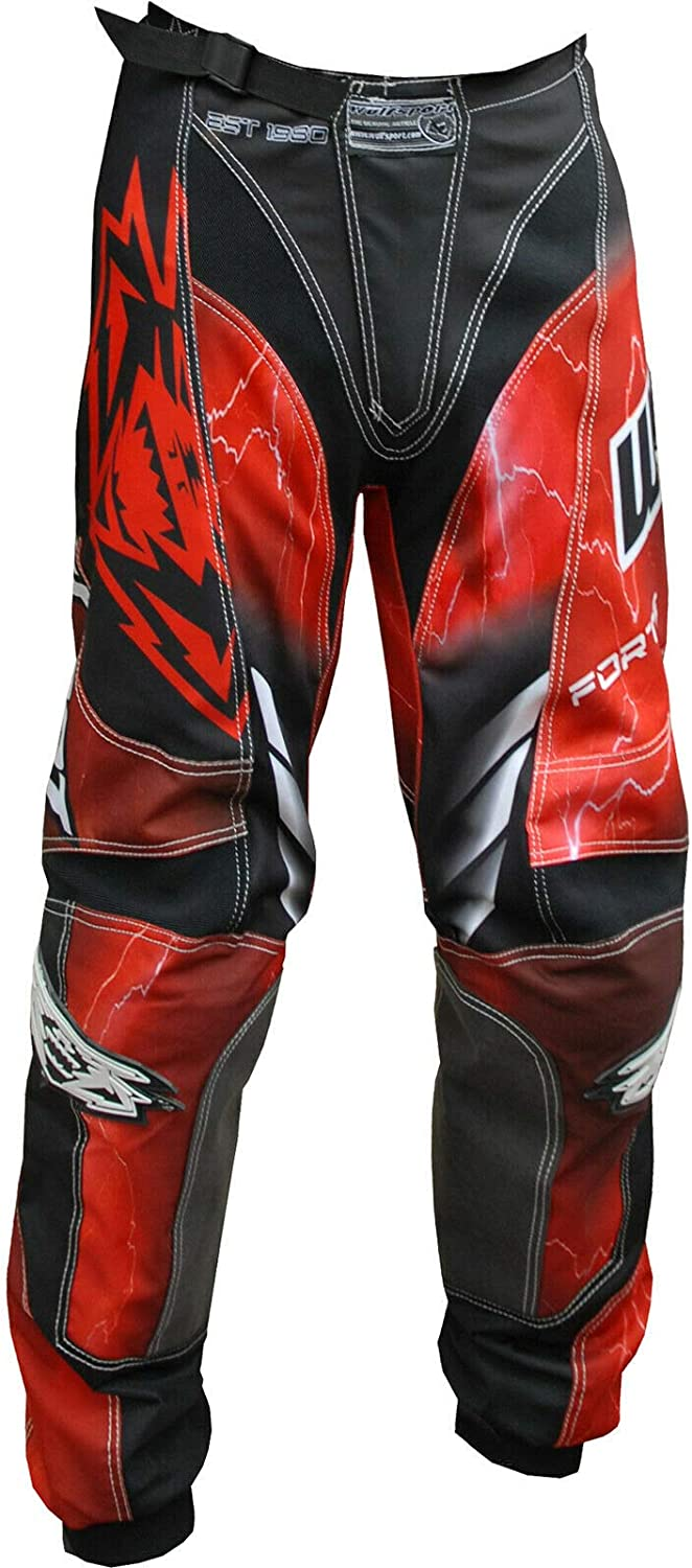 Wulfsport 2020 Forte Adult Motorbike Sport Suit Motorcycle Motorcross Racing Shirts Trousers Red Shirt 3XL