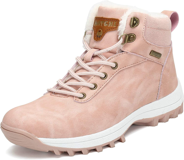 Mishansha Hombre Mujer Botas de Nieve Senderismo Impermeables Deportes Trekking Zapatos Fur Forro Aire Libre Boots Talla.36-48