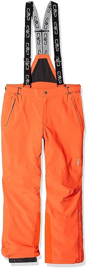 Ropa de esquí neon hombre naranja neón