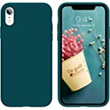 iPhone XR Case,DUEDUE Liquid Silicone Soft Gel Rubber Slim Cover with Microfiber Cloth Lining Cushion Shockproof Full Body Pr