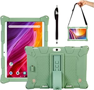 Transwon Case for Dragon Touch K10/ Max10 Tablet, ZONKO K105/ K106 10.1 Inch Tablet, HOOZO 10, Winsing 10 Inch Tablet, lectrus LECT-TAB1011, Tabtrust 10.1, Victbing 10, FLYINGTECH Tablet 10.1 - Green